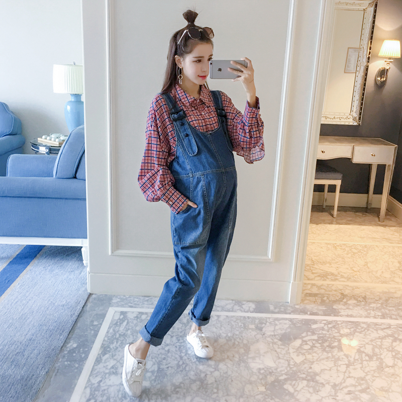 2018 summer maternity jeans overalls jumpsuits fall clothes for pregnant women plus pregnancy pants trousers woman fashion slim solid knee distrressed maternity wear jeans premama pregnancy prop belly adjustable pants for women c73