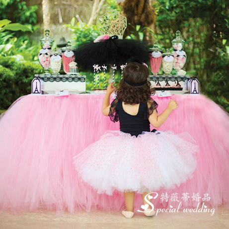 The wedding table skirt embroidered table cover birthday party supplies dessert fashion wedding decoration