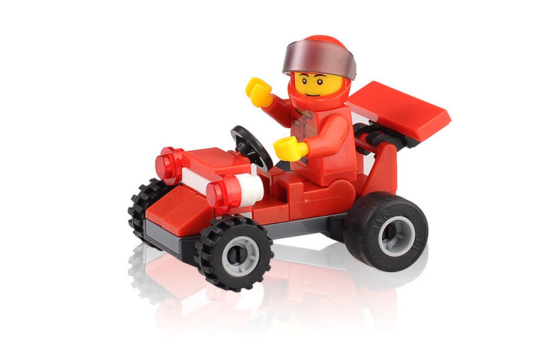 new arrival plastic combination pioneer speed car move model building kits vehicle toy block children kid