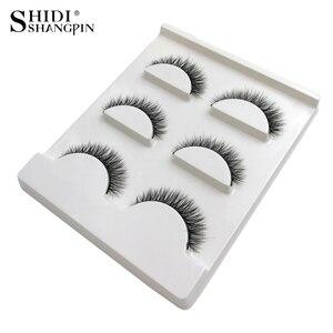 Image 3 - SHIDISHANGPIN 1 box mink eyelashes natural long 3d mink lashes short  Cross Messy false eyelash 8mm 3 pairs mink eyelashes X05