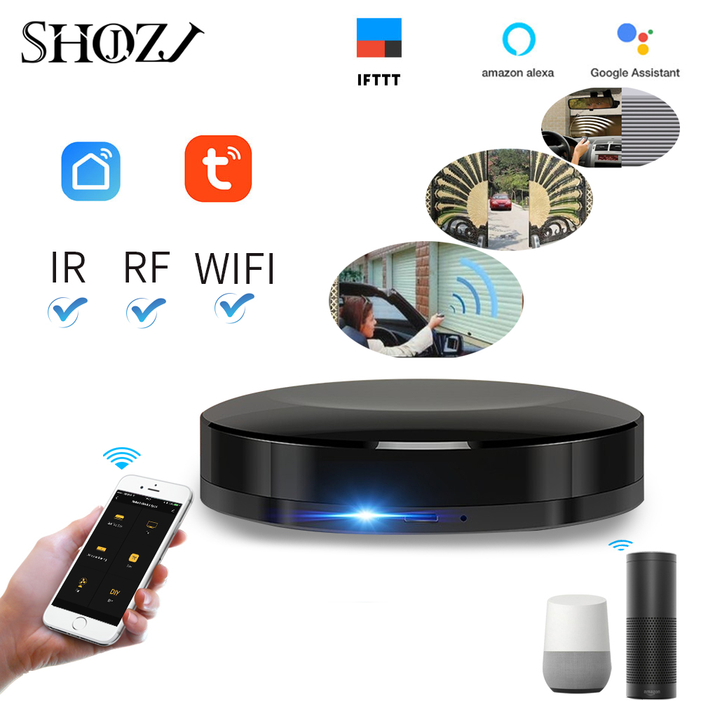 Tuya SMART LFIE App Intelligent Universal WIFI+IR+RF Switch Remote Controller Smart Home Automation Compatible For  Alexa