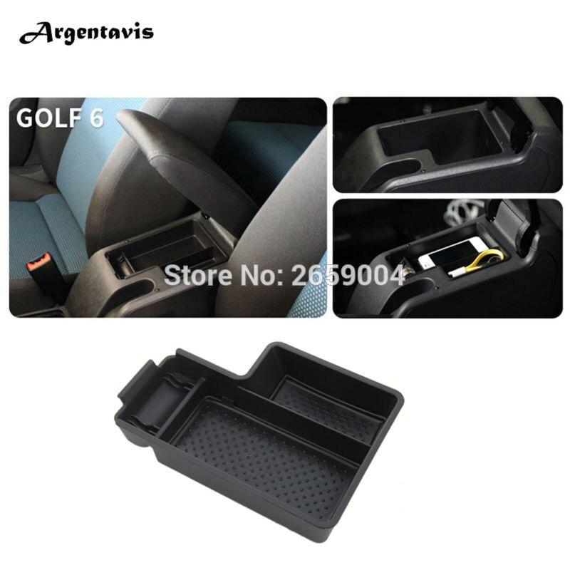 Armrest Storage Content Box Holder Interior Central Storage Pallet Container Case For Volkswagen VW Golf 6