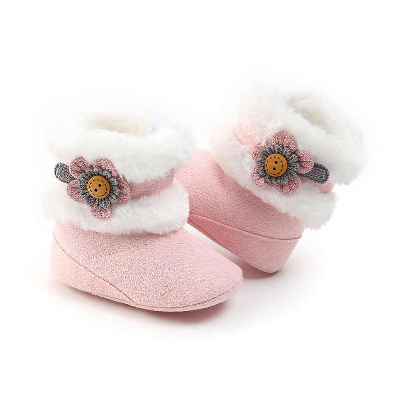 Toddler Baby Boy Girl Boots Winter Warm Slippers Boots Prewalker Slip on Shoes Baby Girl 0-18M