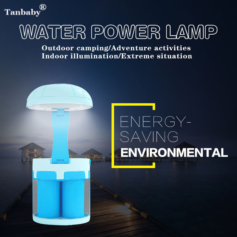 Tanbaby Portable Salt Water Powered LED Lantern Lamp Emergency Night Light Seawater powered light for Camping Outdoor Activities устьянцева и ред самые вкусные запеканки