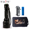 6000 Lumens Flashlight C8 LED CREE XM-L T6 Torch 5 Mode Tactical Flashlight Camping Light Lamp+ 18650 battery+ Charger