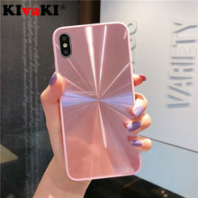 Luxury Candy colors Back case for iPhone 8 7 6 6S Plus Gradient Rainbow Laser Phone Case X XS Max XR Coque Cover