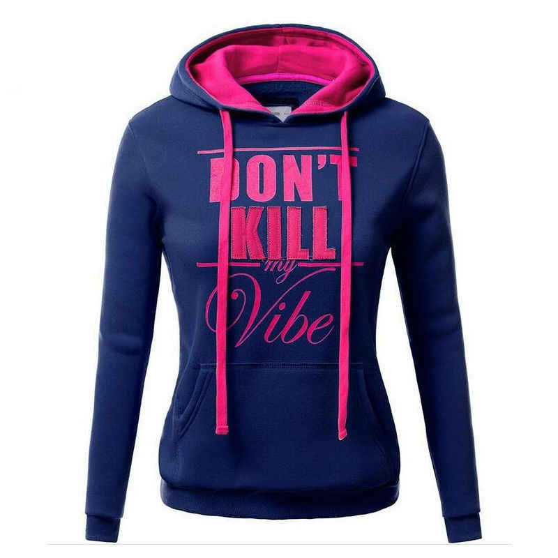 Woman hoodies Sweatshirt Comfortable Keep Warm Teens women hoodies Letter Print Sweat Shirt Pullover Hoodie Sudadera Mujer