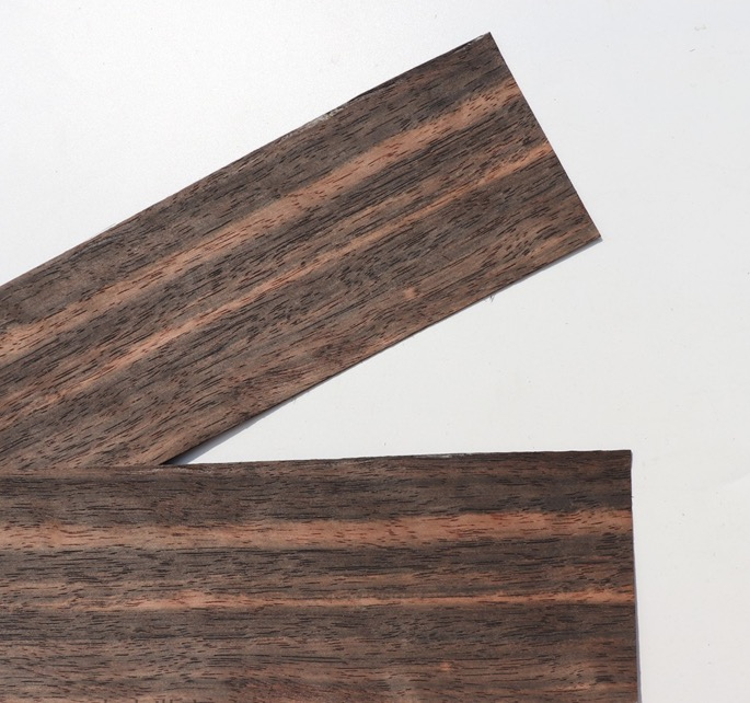 5Pieces/Lot  Thickness:1mm 10x30cm Pure Solid Black Ebony Wood Chips Veneer