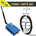 CDMA850 3G Cell Phone Signal Booster 65dB UMTS850 Gaub GSM 850 mhz Móvel Celular Amplificador Repetidor 850 mhz Set + Yagi antena