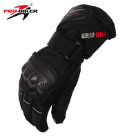 PRO BIKER Snowboard Gloves Outdoor Sports Gloves Warming Moto Non Slip Motorcycle Racing Glove Black M