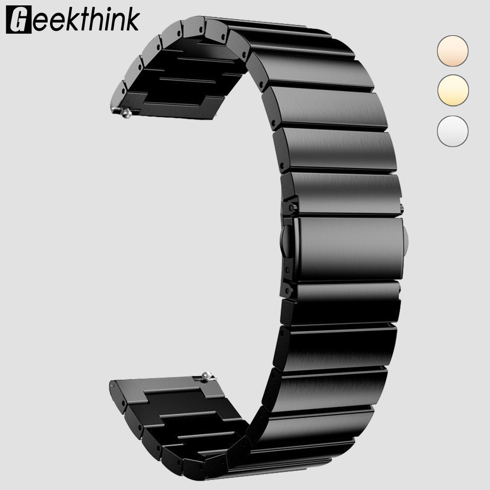 18mm 20mm 22mm Universal Watch Band Strap Stainless Steel Replacement Link Bracelet for Samsung Gear S2 Classic S3 Frontier цены