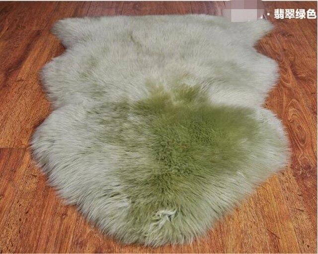 60cm 90cm Real Sheepskin Rug 14 Colors Australia Wool Bedroom Fur Carpet Area