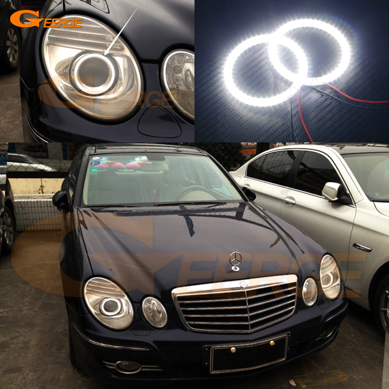 For Mercedes Benz e class w211 E200 E220 E270 E280 E320 E420 CDI 2003-2009 Excellent Ultra bright smd led Angel Eyes kit auto fuel filter 163 477 0201 163 477 0701 for mercedes benz