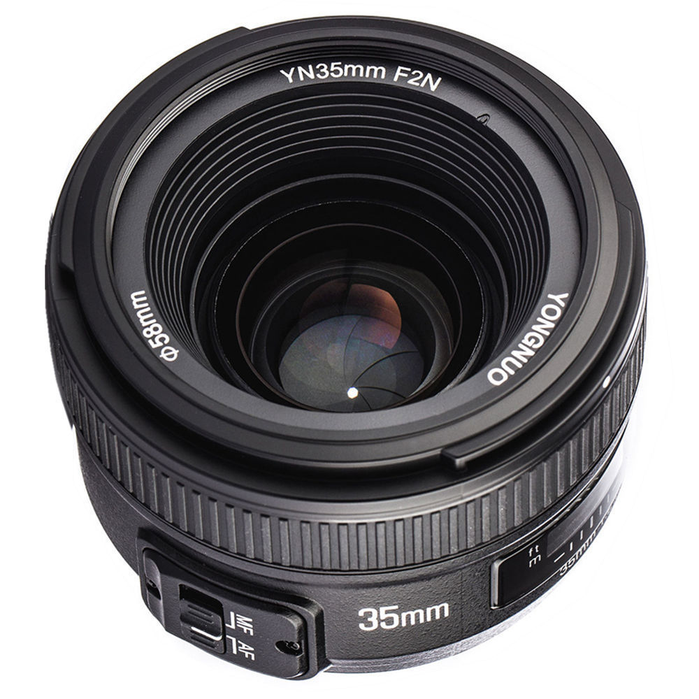 YONGNUO YN35mm 35mm F2N Lens Wide Angle AF MF Fixed Focus for Nikon D7200 D7100 D7000