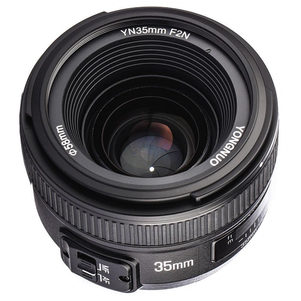YONGNUO YN35mm 35mm F2N Lens Wide Angle AF/MF Fixed Focus for Nikon D7200 D7100 D7000 D5300 D5100 D3300 D3200 D800 d5000 d7500