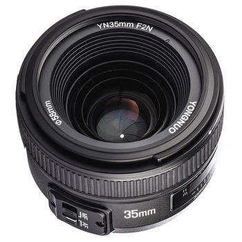 YONGNUO YN35mm 35mm F2N obiektyw szerokokątny AF/fundusz powierniczy stała gęstość wiązki dla Nikon D7200 D7100 D7000 D5300 D5100 D3300 D3200 D800 d5000 d7500