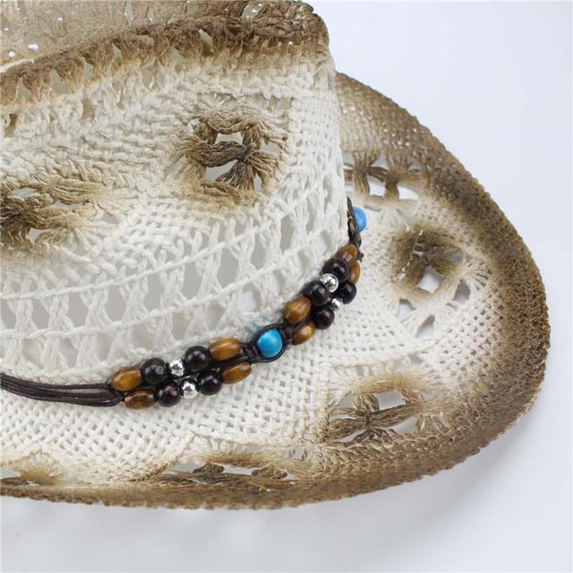 2017women Hat Western Cowboy Hat Hand Made Beach Felt Sunhats Party Cap For Man Woman Cowboy Hat Unisex Hollow Western Hats Gift