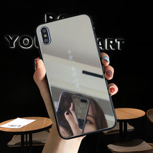 iwalk bcm002ih fashion mirror design protective plastic back case for iphone 5 black Luxury Color Cosmetic mirror Cases for iPhone 7 plus case 8 6 6s X XS max XR Protective Phone Back Cover Shell Mirror phone case