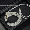 KZ  3.5MM 1.2M Plated Silver Earphone Cable 0.75MM 2pin Diy Upgraded Audio Cable Replacement Earphone Repair Wire For KZ ZS3 ZST