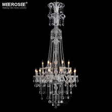Luxury Crystal Chandelier Lighting Fixture Clear Large Hotel Crystal Light Lustres Hanging Lamp Fast Shipping  MD2456B 120cm luxury big europe large gold luster crystal chandelier light fixture classic light fitment for hotel lounge decoratiion