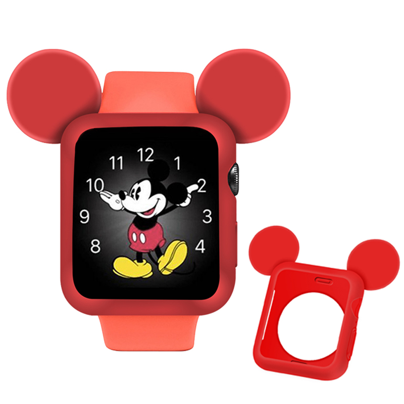 Cartoon Pattern watch Case for apple watch 44mm case Anti drop shockproof screen protector for iwatch 4 apple watch cover 40mm in Watch Cases from Watches
