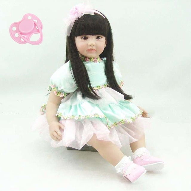 Lifelike Silicone Vinyl Reborn Baby Princess Toddler Doll Toys Girl Brinquedos High Quality Child Kids Birthday