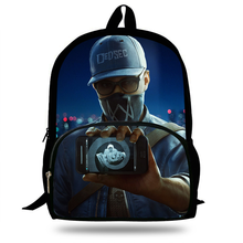 Hot 16inch Hot Sale Games Print Bags For Teenagers Watch Dogs Backpack For Kids
