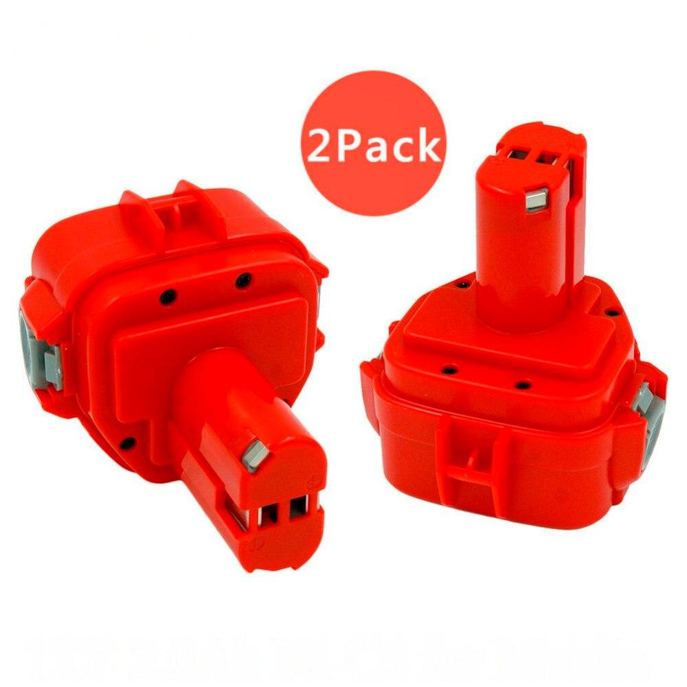 2 pièces 12 V 2000 mah nicd perceuses sans fil Remplacement rechargeable batterie pour Makita 6227D 6317D 1220 1222 1233 1234 1235 bateria
