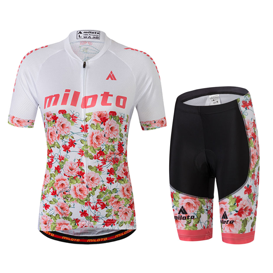 Plus Size 4XL 5XL Cycling Clothes Short Sleeve For Women Bicycle Jersey and  MTB GEL Pad Shorts Set Lady Cycle Sportswear Pink 2ccf1f18f