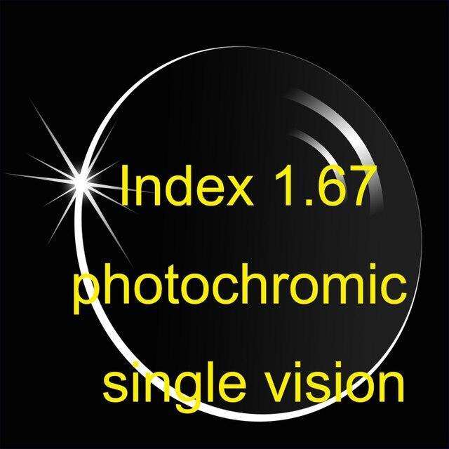 Индекс 1.67 асферических фотохромные единое видение линзы ар покрытий / супер тоньше рецепт линзы / переход объектив / коричневый серый