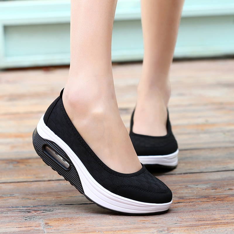 Sneakers women running shoes 2019 new fashion solid breathable mesh women sneakers wedges slip on shoes woman zapatillas mujer-in Running Shoes from Sports & Entertainment on AliExpress - 11.11_Double 11_Singles' Day 1