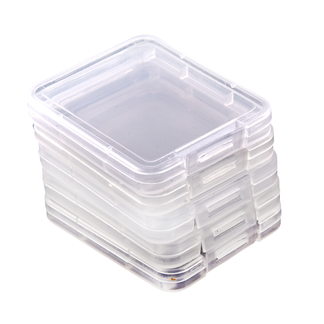 YOC  5 Series Memory Card Case Box Protective Case For SD SDHC MMC XD CF Card White Transparent