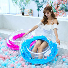 Inflatable Feather Decoration Swimming Ring Pool Hawaii Summer Beach Party Float Mattress Gift Adult kids