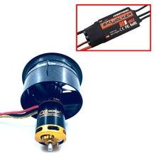 64mm EDF seti 2822 3800KV fırçasız motor 12 bıçaklı kanallı Fan ile ile 80A esc RC uçak modeli parçaları QX MOTOR DIY Drone