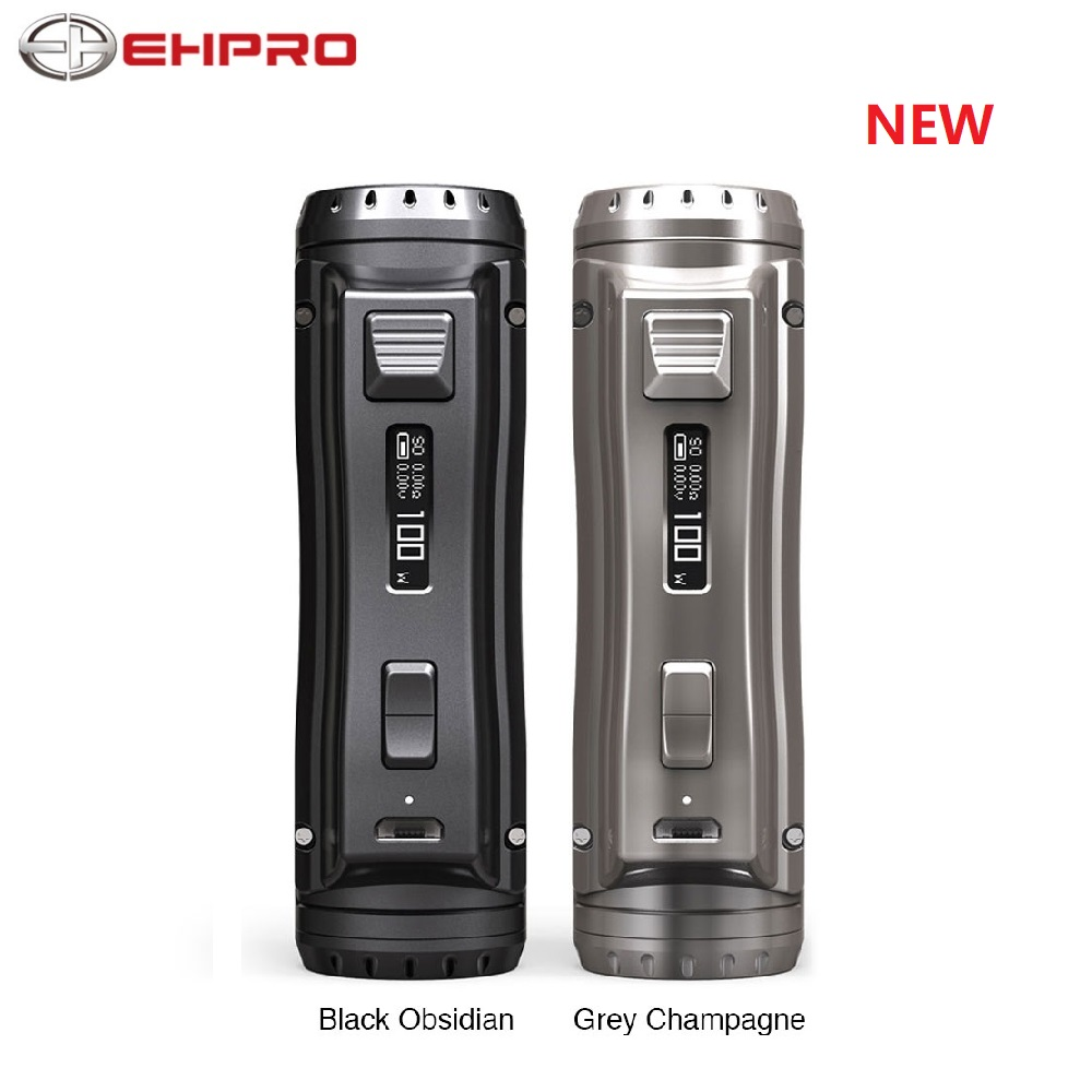 New 120W Ehpro Cold Steel 100 TC Box MOD Power By 18650 / 20700 / 21700 Battery Metal E-cig Vape Mod With 0.0018S Firing Speed