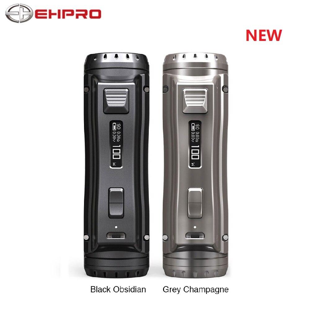 Nouveau 120W Ehpro acier froid 100 TC boîte MOD puissance par 18650/20700/21700 batterie métal e-cig Vape Mod avec 0.0018S vitesse de cuisson