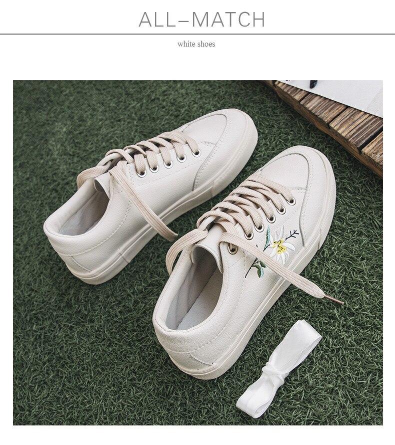 791ba8513 2018 Novos Sapatos de Couro Respirável Sapatos de Lona Todo o Jogo Feminino  Branco Estudante Sapatos Casuais Sapatos de Verão Sapatilhas para o Tamanho  Das ...