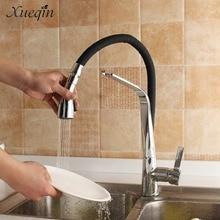 Сюэцинь G1/2 черный резиновый Кухня бассейна Раковина воды кран смесителя Электрический покрытие 2 режима холодной и горячей Смесители краны
