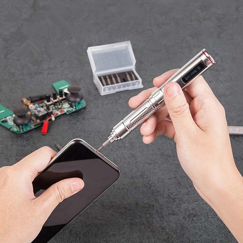 ES121 Cordless Smart Electric Screwdriver Mini Portable High Precision Pen-type LED Tools with Screwriver Bit Set ES120 Upgrade ES121 Cordless Smart Electric Screwdriver Mini Portable High Precision Pen-type LED Tools with Screwriver Bit Set ES120 Upgrade