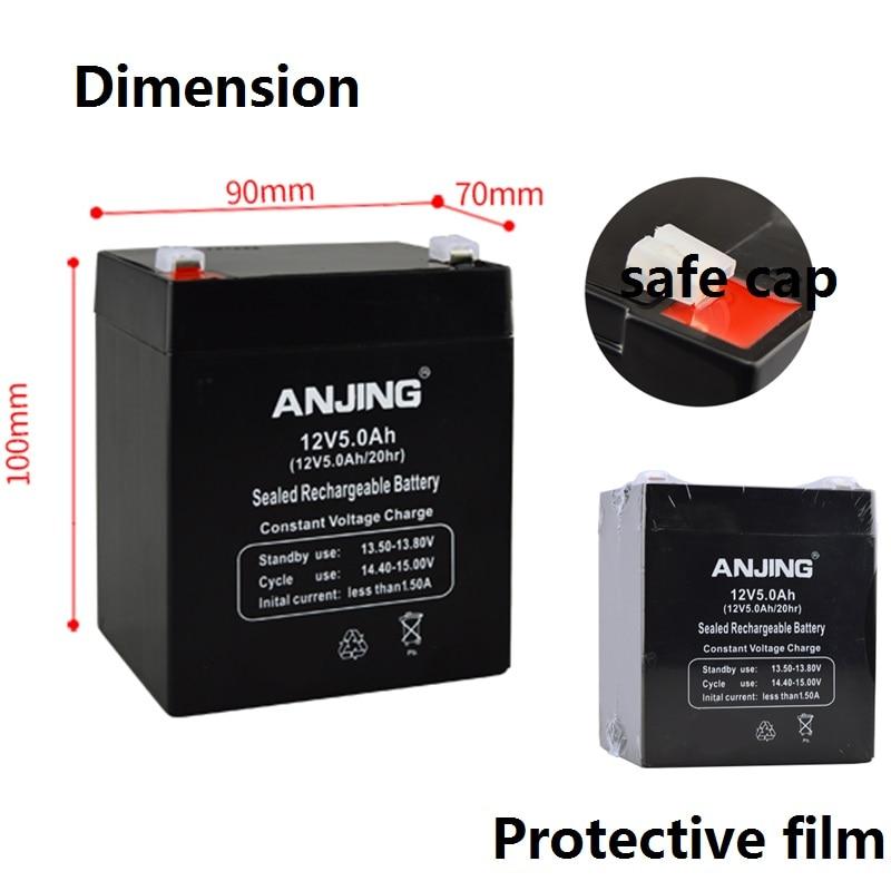 Batterie d'origine 12 V 5AH pour enfants jouet voiture porte-bébé sauvegarde bureau lumière LED plomb-acide accumulateur joint stockage 12V5AH - 2