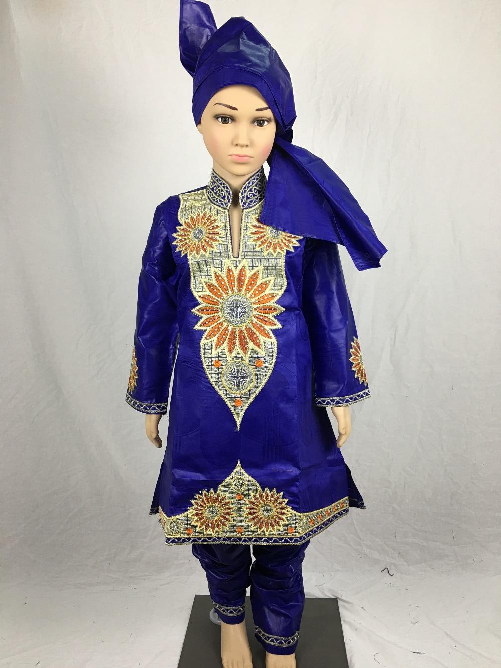 New fashion design african bazin riche embroidery