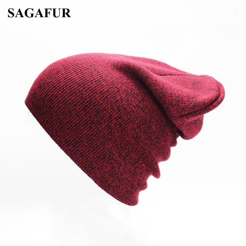 Soft Beanies For Men Winter Cap Women's Polyester Slouchy Knitted Hat For Boys Casual Ski Hat Female Hip Hop Autumn Beanies Girl