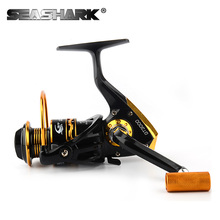 SEASHARK 11BB Big Spool casting Spinning fishing reel 5.2:1 Metal Spinning Reel Carp Fishing Wheel Pesca Fishing Tackle