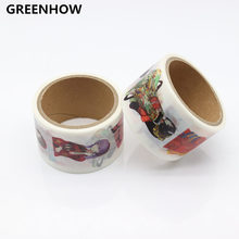 GREENHOW Girls Pattern Japanese Washi Decorative Adhesive DIY Masking Paper Tape Sticker Label 9002