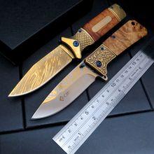 EFE DA62 Folding Knife Pocket Hunting Camping Utility Portable Knife Survival Outdoor Tool knife Steel + Wood Handle Knives