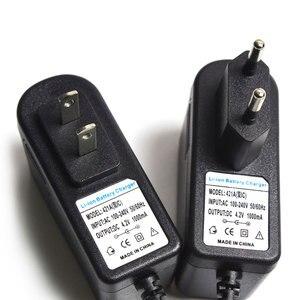 Image 5 - 4.2 V 1A 18650 bateria litowa ładowarka DC 5.5 MM * 2.1 MM ue/AU/US/UK wtyczka 110 220 V dla 18650 bateria litowo polimerowa