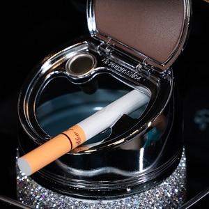 Image 4 - Cenicero de diamante hecho a mano para coche, Cenicero portátil sin humo, soporte Universal para cigarrillos, accesorios para coche