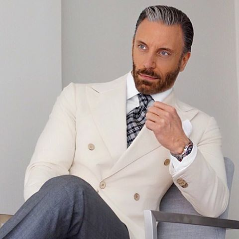 6c88d712a78 2017 Latest Coat Pant Designs Beige Ivory Double Breasted Blazer Men Suit  Casual Jacket Custom Suits Skinny Tuxedo Masculino