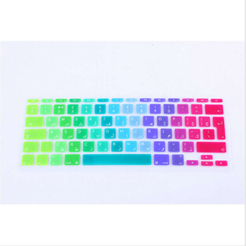 UK Arabic Letter Alphabet Soft Silicone Persian Keyboard Protector Flim Keypad Cover Skin for apple MacBook Air 11.6 Inch 11