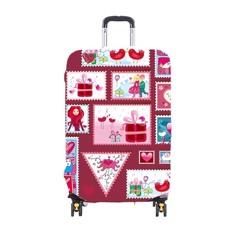 Child Cartoon Travel Luggage Cover Thicken Elastic Color Trolley Suitcase Protective Cover Travel Accessories for 19 32inch in Travel Accessories from Luggage Bags
